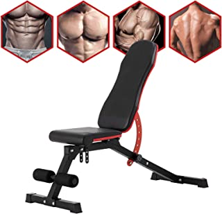 Li·Fitness Weight Bench Adjustable Strength Training Incline Decline Full Body Workout Exercise Bench for Home Gym