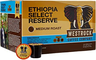 Westrock Coffee Company 100% Ethiopian Select Reserve, Single Serve Gourmet Coffee 100 Count Cups