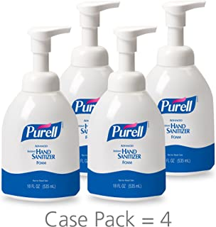 PURELL Healthcare Advanced Hand Sanitizer Foam, Clean Scent, 18 fl oz Pump Bottle (Pack of 4) - 5792-04