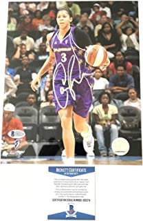 Candace Parker signed 8x10 photo BAS Beckett Los Angeles Sparks Autographed - Beckett Authentication