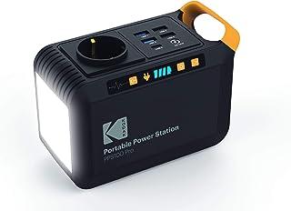 Kodak PPS100 Pro Portable Power Station met 88,8 Wh lithium-ion batterij, mobiel AC/DC stopcontact, 1 x USB-C, 2 x USB Qua...