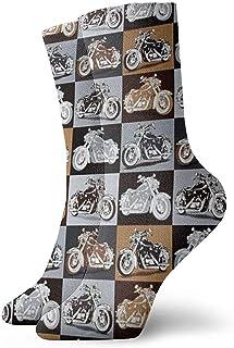 Dydan Tne, Biker for Life Calcetines de Vestir para Moto Calcetines Divertidos Calcetines Locos Calcetines Casuales para niñas Niños