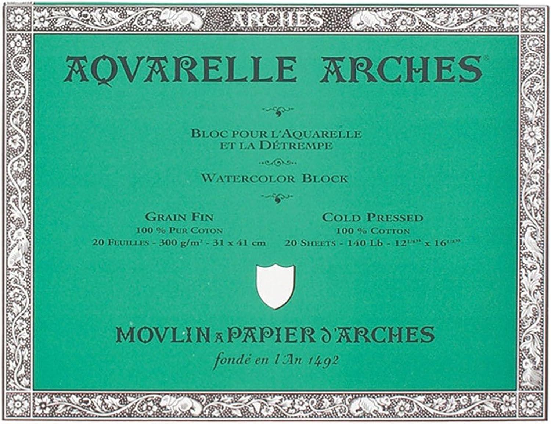Canson 200177170 Arches Aquarell, 31 x 41 cm, naturweiß B0007XDHGY | Starke Hitze- und Abnutzungsbeständigkeit