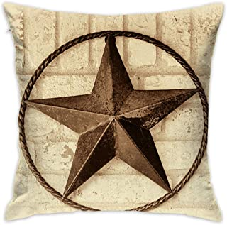 KJDFH Funda de Almohada,Rising Star Home Decorative Throw Pillow Cases Cushion Pillowcase Cover 18 X 18 Inches for Living Room Bedroom Car