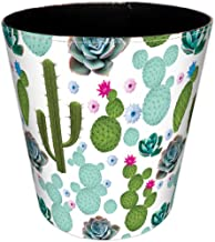 Wastebasket, Hamne 7.48x7.48x7.48Inch British Style Trash Bin Household Uncovered Garbage Can Wastebasket - (Cactus-1 Pattern)