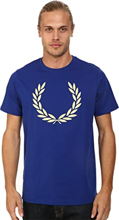 Fred Perry - Camiseta Hombre Fred Perry Blanca Laurel