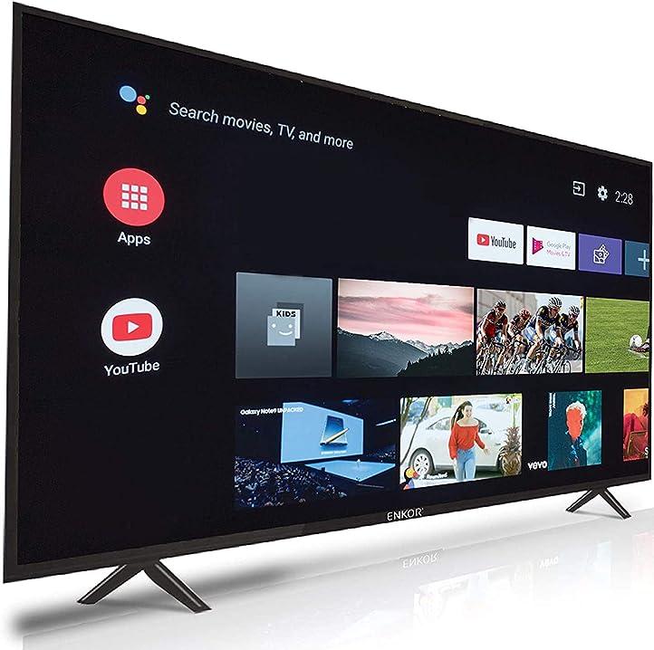 Smart tv 43 pollici enkor full hd android tv netflix ready, prime video, youtube, spotify EK43FHDDTV