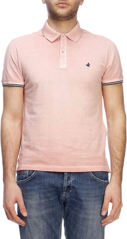 BROOKSFIELD Men's 201AA043V0032 Pink Cotton Polo Shirt