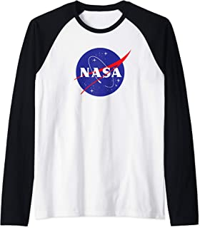 NASA Shirt, New Meatball Logo Insignia Symbol Graphic Raglan Baseball Tee