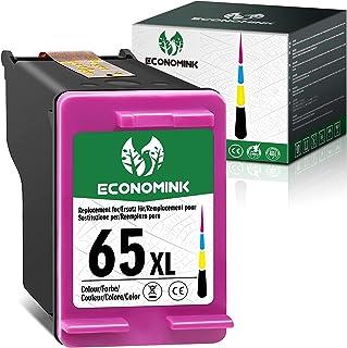 Economink Remanufactured 65 Color Ink Cartridge Replacement for HP 65XL 65 XL for Envy 5052 5055 5012 5010 5020 5030 DeskJ...