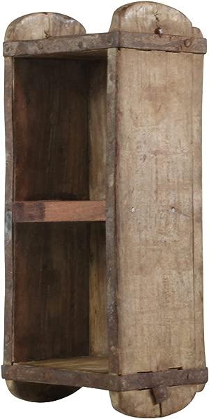 My Swanky Home Vintage Wood Brick Mold Shadow Box Divider Wall Shelf Hanging Rustic