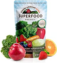 Grown American Superfood Ultra Organic Whole Fruits, Grains, Sprouts, Leafy Greens & Beta Rich Vegetables Concentrated Green Powder Antioxidants 100% Certified Organic and Vegan Non-GMO (1)