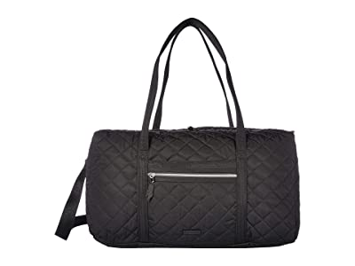 Vera Bradley Iconic Performance Twill Lay Flat Travel Duffel (Black) Carry on Luggage