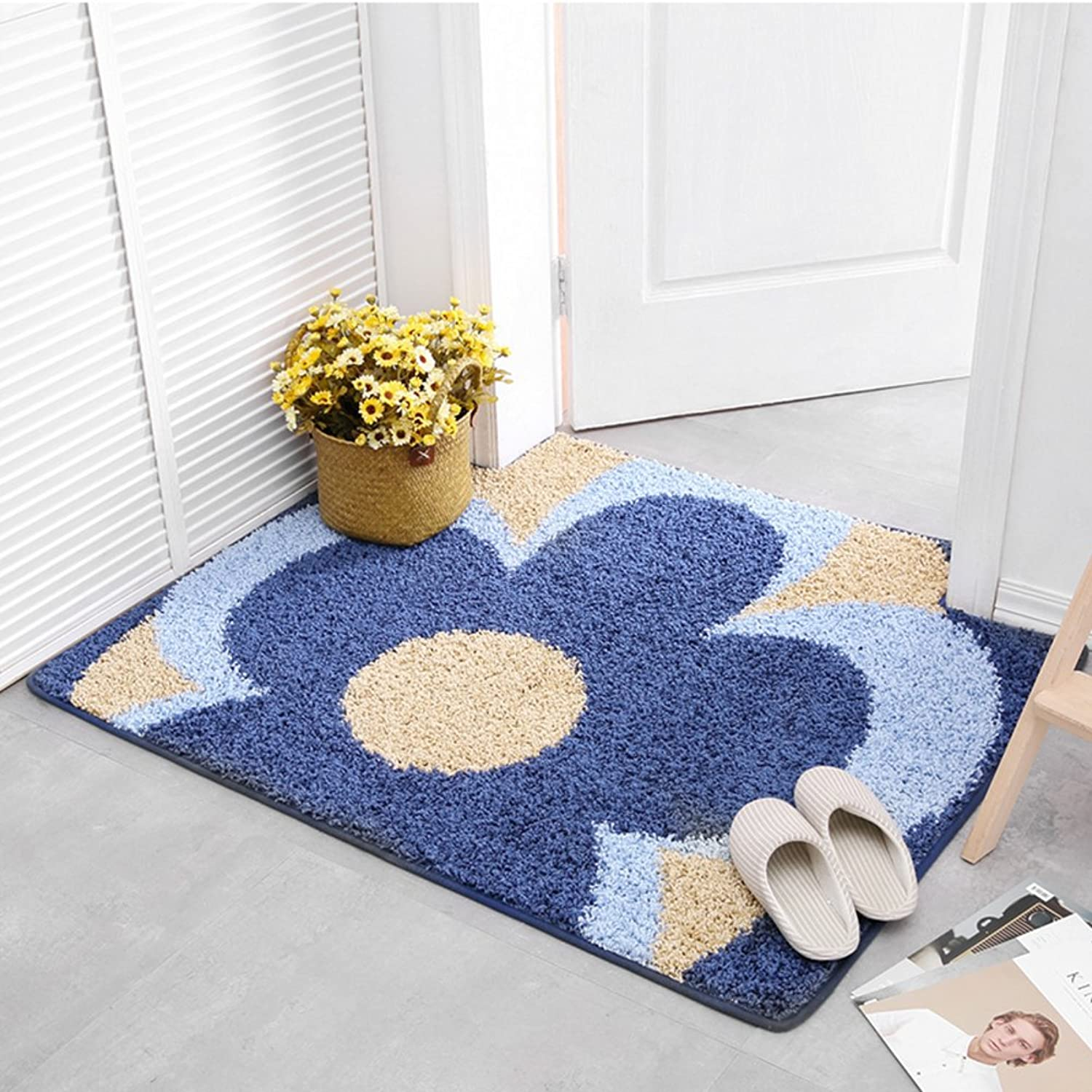 GUOSHIJITUAN Anti Slip Modern Carpet,Carpet Doormat Foot Pad for Bedroom Living Room Bathroom Area Rug-B 90x140cm(35x55inch)