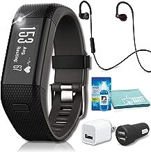 Garmin vivosmart HR+ Activity Tracker (Black) with JBL Under Armour Heart-Rate (Black) Headphones Bundle