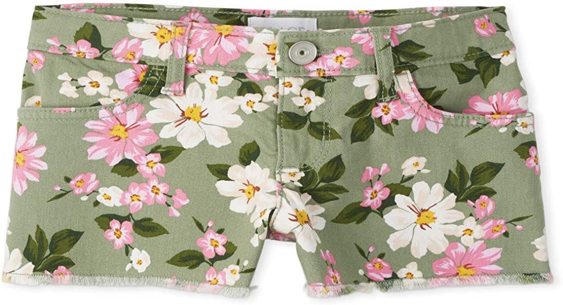 The Children's Spring new work Place At the price Girls' Shorts Printed Denim