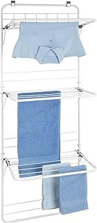 WENKO Sèche-linge à suspendre - Séchoir à linge à suspendre, Métal peint par poudrage, 51 x 142 x 41 cm, Blanc