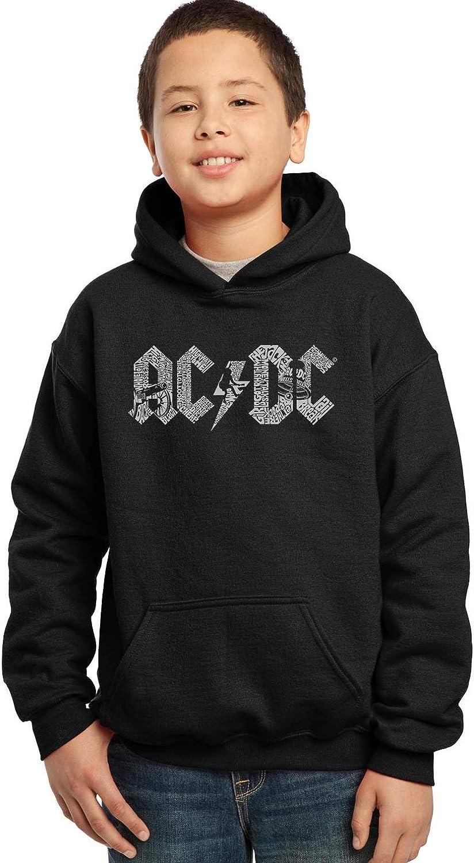 ACDC Fully Licensed Boy's Word Art Hooded Sweatshirt by LA Pop Art