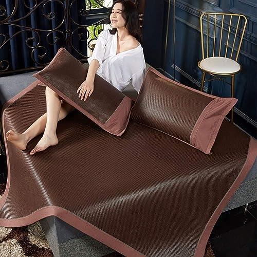 QNJM Faltbare Kühle Matte Für Bett, Sommerzellulosefasermatratze-Schlafmatte, Kriechende Matte (Farbe   A, Größe   120X190CM)