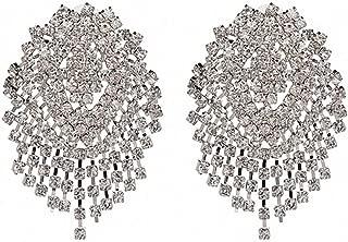 Crystal Beads Earrings Women Ethnic Jewelry Handmade Elegant Big Long Beads Earrings