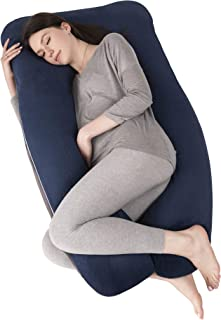 OYOWUOT Pregnancy Pillow U Shape with Removable Soft Velvet Cover, Full Body Maternity Pillow for Pregnant Women Sleeping ...