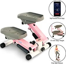 EXERPEUTIC EXERWORK 850 Bluetooth Smart Cloud Fitness Extended Capacity Mini Stepper with Adjustable Step Height, Free App and Workout Goal Setting