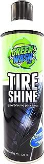 Green Wash 3 Tire Shine Brillo Extremo para Llantas Acabado húmedo 425 g