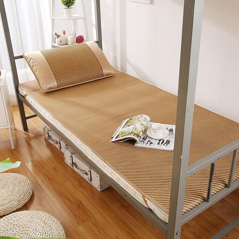 LITT Bedding Straw Mat Summer Sleeping Mats Bed-mat Folding Lace Home Bedroom, 0.9  1.9m Bamboo Cool Mattress
