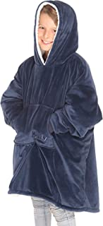 THE COMFY | The Original Oversized Sherpa Blanket Sweatshirt for Kids, Seen On Shark Tank, One Size Fits All