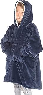 THE COMFY Kids: Original Blanket Sweatshirt, Shark Tank, Warm, Soft, Cozy, Wearable Sherpa Hoodie, Multiple Colors, One Size Fits All, Children, Boys, Girls, Blue, Pink