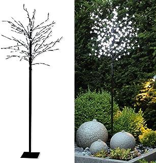 Tronje Árbol decorativo con luces LED - Diseño de cerezo 180 cm - 200 LED blanco cálido Exteriores