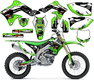Team Racing Graphics kit compatible with Kawasaki 2010-2019 KLX 110, SCATTER