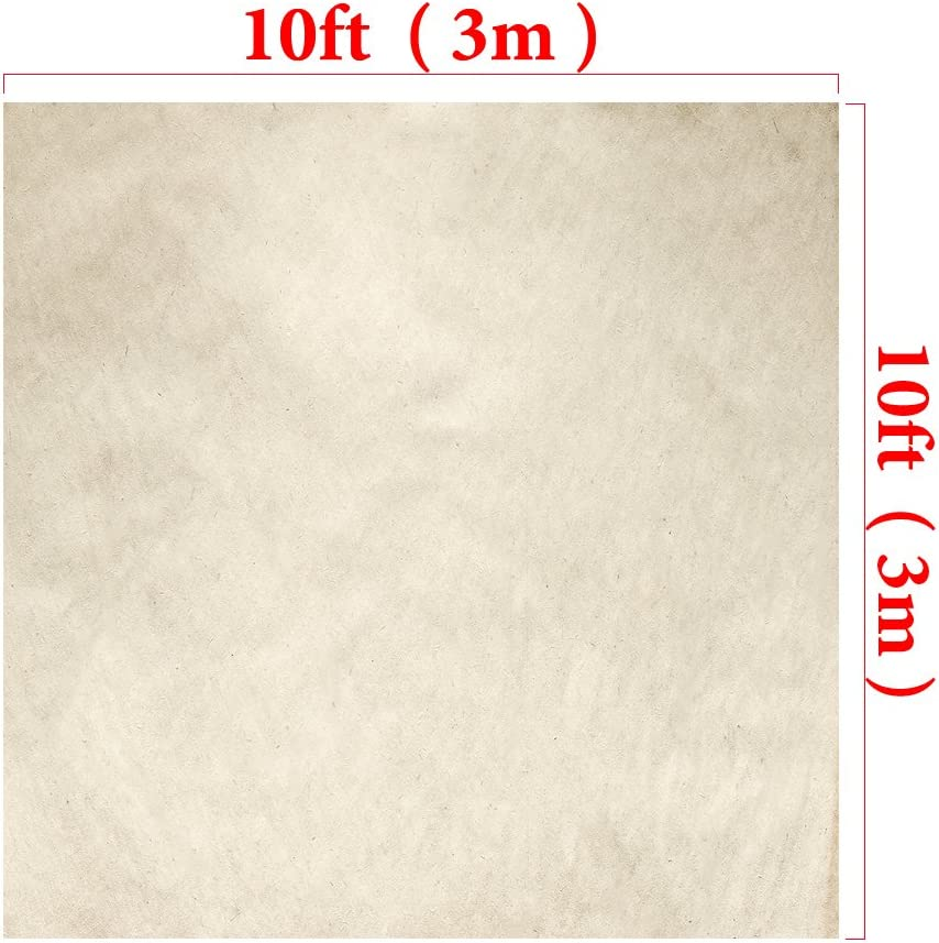 Kate20ft Ivory Portrait Photography Backdrop Abstract Photo Background Old Paper Grunge Photo Studio Props for Photography Free Wrinkles Cotton Cloth Props W H x10ft