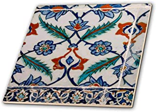 "3dRose Asia, Turkey, Istanbul, Topkapi. Detail of Famous Palace Iznik Tiles.-Ceramic Tile, 6"" (ct_209121_2)"