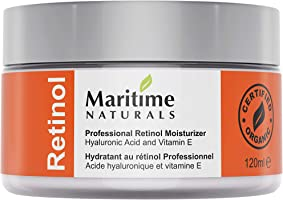 Canada's Premium Retinol Moisturizer for Face - Huge 120ml - Hyaluronic Acid and Vitamin A - Super Anti Aging Skin Cream...