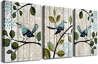 bird on the branch 3 Piece abstract Canvas Wall Art for living room Wall Decor for bedroom kitchen decorations abstract posters Canvas Prints artwork Modern framed bathroom Home decoration 12