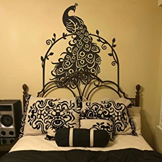 MairGwall Peacock Wall Decal with Vines Animal Vinyl Birds Art Sticker Home Decoration(N Shape,32