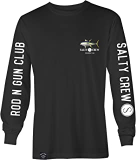 Salty Crew Mens Ahi L/S T-Shirt, Black