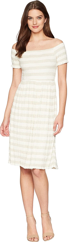 Lucky Brand Women's Stripe Smocked Dress