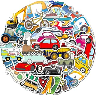 Party Hive Vehicle Transport (40 Pieces) Assorted Decal Stickers Arts Crafts Scrapbook