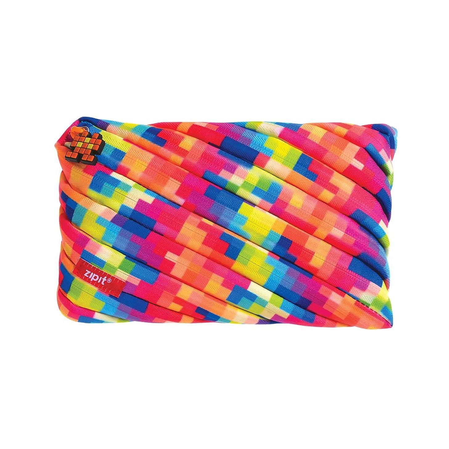 ZIPIT Pixel Big Pencil Case/Cosmetic Makeup Bag, Yellow