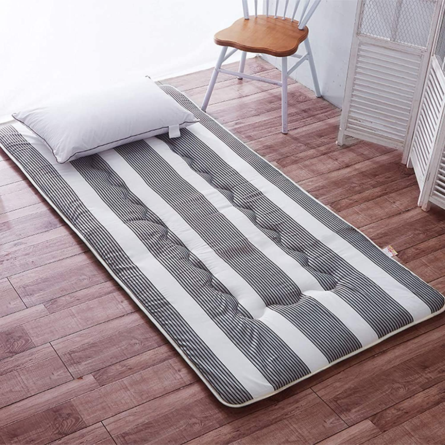 Multi-Function Tatami Mattress, Thin 4cm Foldable Flannel Mattress Topper Breathable Japanese Bed roll Multi-Size Floor mat-A 90x200x4cm