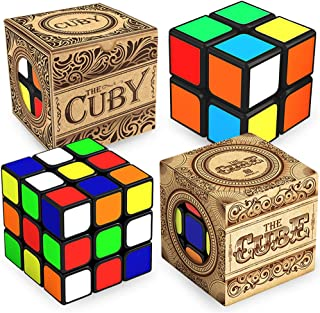 aGreatLife The Cube 3x3x3x and 2x2x2 Cuby Bundle