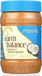 Earth Balance Crunchy Coconut and Peanut Spread - Case of 12 - 16 oz.