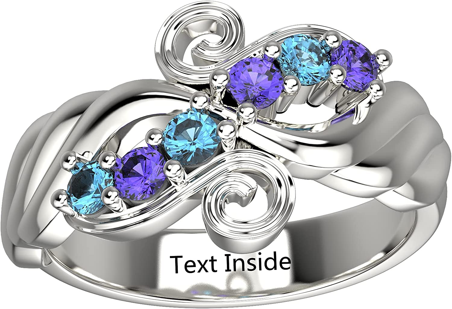 depot Engravable Mothers Day Birthstone Rings Women Popular Personalized for P