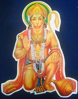 Blessing Lord Hanuman Hindu God Sticker (Size 9
