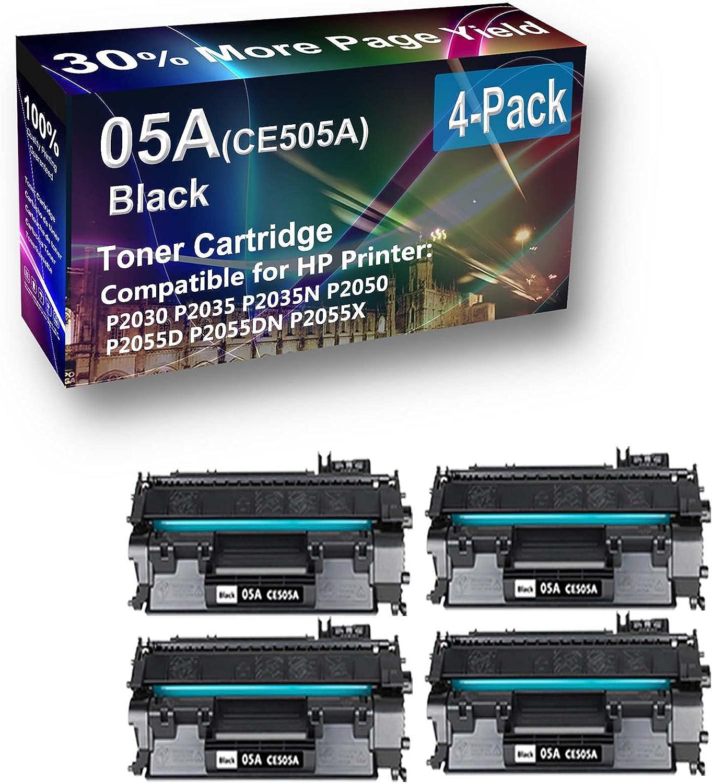 4-Pack Compatible High Capacity 08A0477 08A0478 Toner Cartridge use for Lexmark E320, E322, E322n Printer (Black)