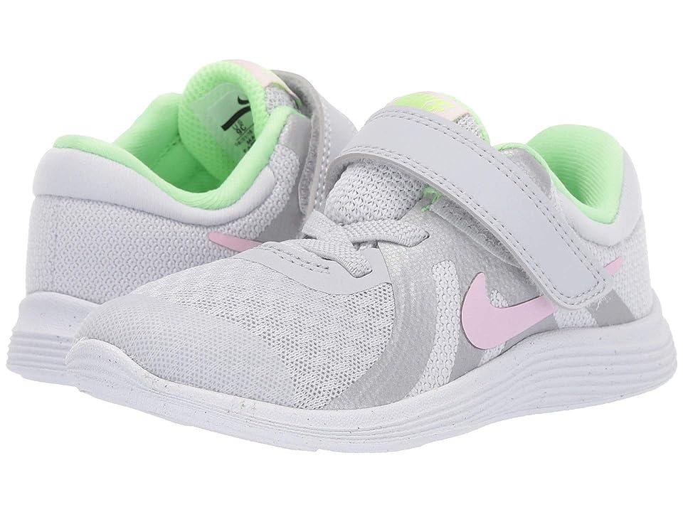 Nike Kids Revolution 4 (Infant/Toddler) (Pure Platinum/Pink Foam/Platinum Tint) Girls Shoes
