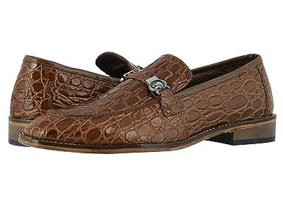 Stacy Adams Bellucci Leather Sole Moc Toe Slip-On (Cognac) Men