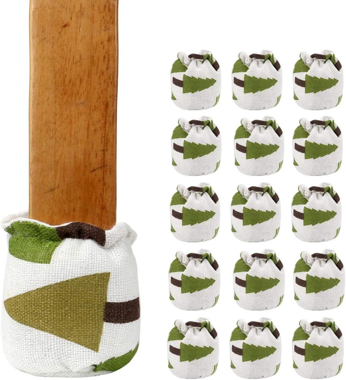 Yoption 16Pcs Chair Leg Socks Linen Bargain Regular discount Tree Cotton Christmas Table